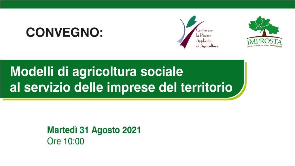 Modelli di agricoltura sociale al servizio delle imprese del territorio